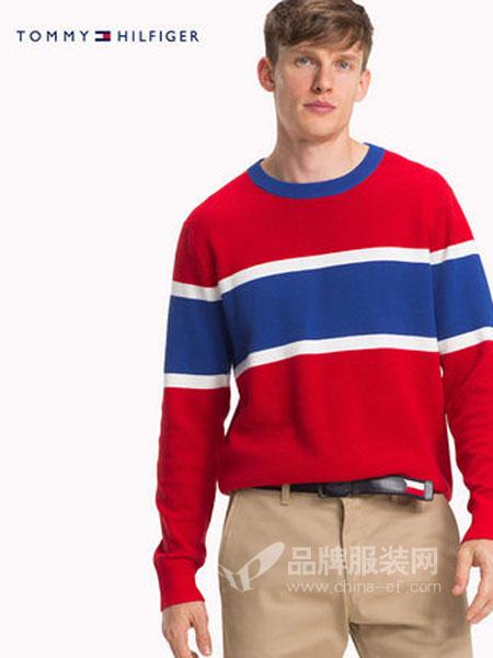 Tommy Hilfiger休闲品牌2019春季撞色套头针织衫