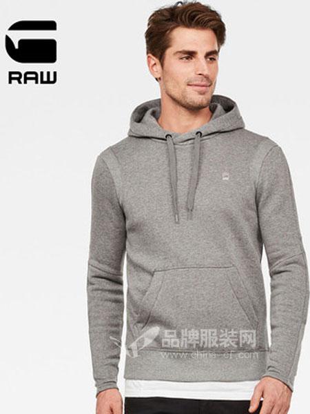 G-Star Raw休闲品牌2019春季时尚潮流连帽卫衣