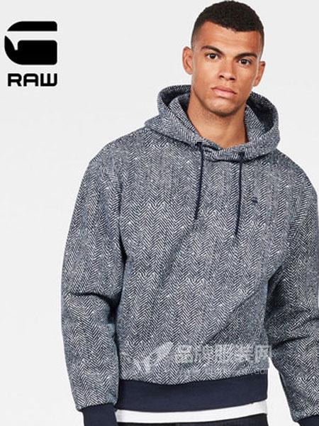 G-Star Raw休闲品牌2019春季长袖连帽套头卫衣潮流