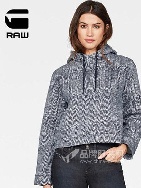 G-Star Raw休闲品牌2019春季长袖连帽卫衣显瘦时尚