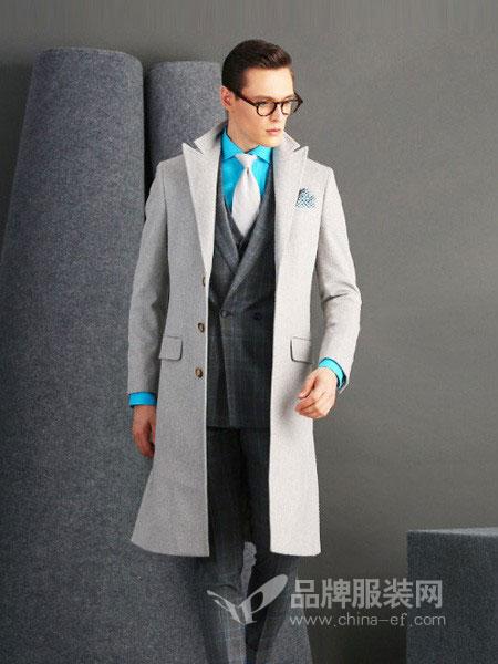 SOLOSALI所罗男装品牌2018秋冬新款专柜正品韩版直筒呢大衣