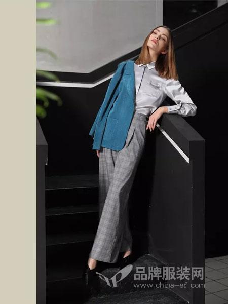 绽然女装品牌2019春季韩版街头范棉麻短款外套