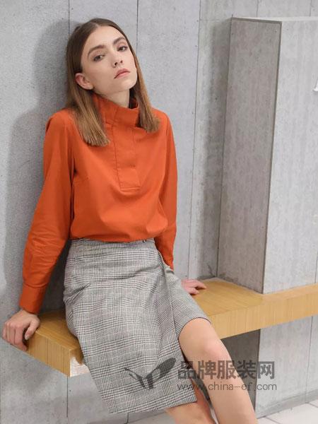 绽然女装品牌2019春季淑女快时尚长袖针织衫