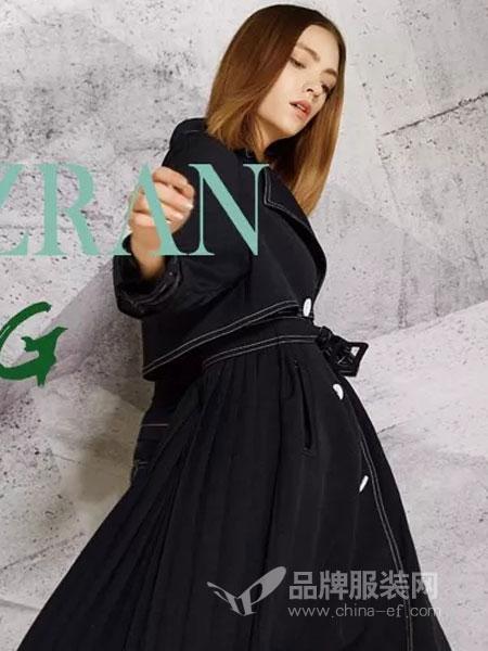 绽然女装品牌2019春季牛仔俏皮高腰连衣裙