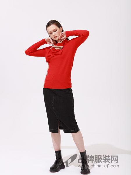 ZIRONG子容女装品牌2019春季韩版长袖修身针织衫