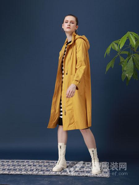 ZIRONG子容女装品牌2019春季修身长款外套