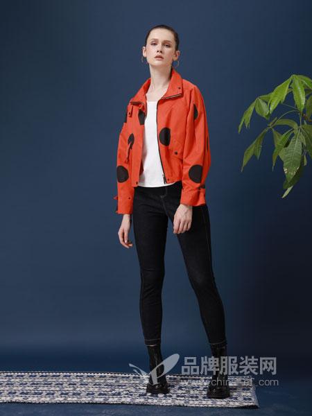 ZIRONG子容女装品牌2019春季长袖修身短款外套