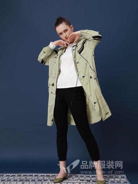 ZIRONG子容女装品牌2019春季长袖修身中长款外套