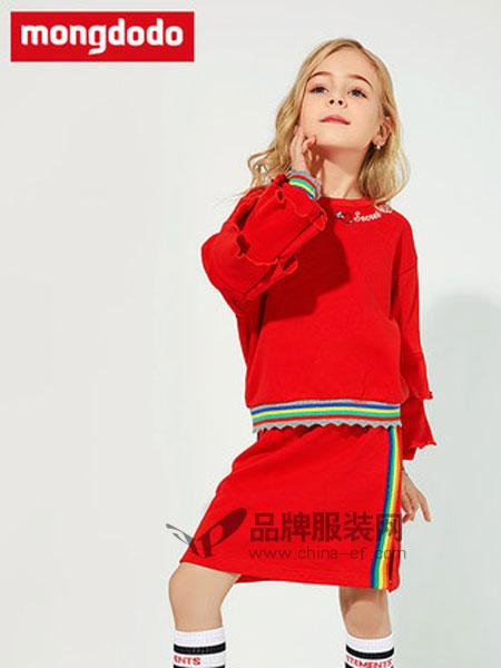 梦多多童装品牌2019春季针织长袖公主裙