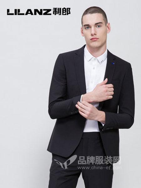 利郎男装品牌2019春季一粒扣修身黑色西装