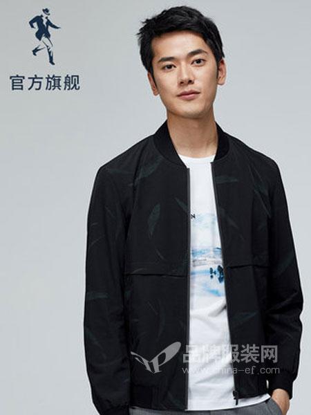 与狼共舞男装品牌2019春季韩版休闲潮流立领男士外套