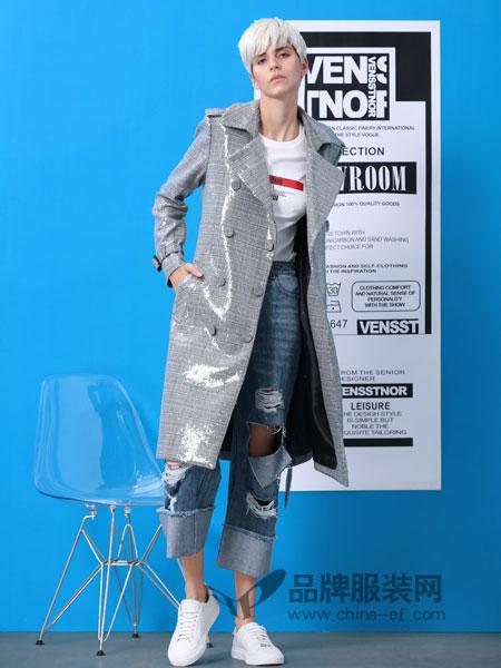 维斯提诺女装品牌2019春季新款宽松韩版中长款风衣显瘦大码上衣