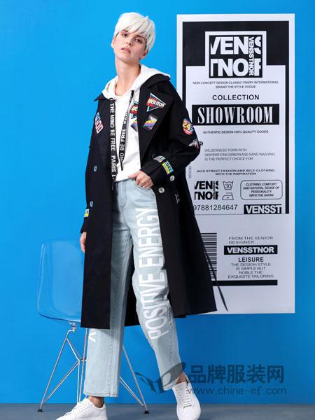 维斯提诺女装品牌2019春季长袖拉链大码修身轻薄