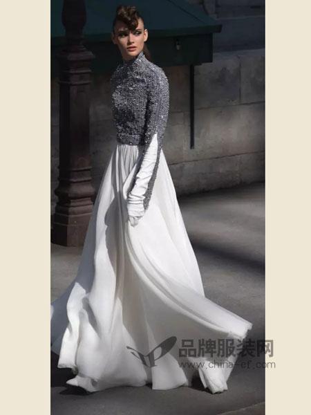 CHANEL香奈儿女装品牌2018秋冬半高领拼接修身连衣裙