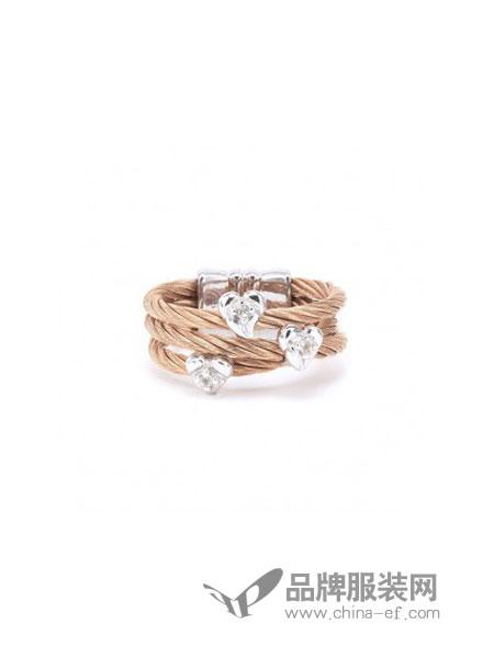 Charriol夏利豪女装品牌2018秋冬简约个性时尚微镶开口手饰指环