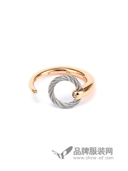 Charriol夏利豪女装品牌2018秋冬时尚潮流个性开口戒子环