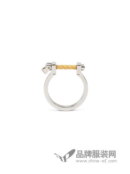 Charriol夏利豪女装品牌2018秋冬 简约多个素环戒指