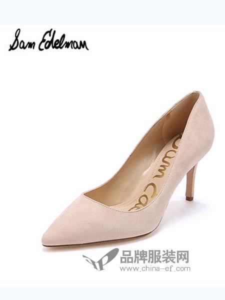 山姆·爱德曼鞋帽品牌浅口羊绒尖头女单鞋