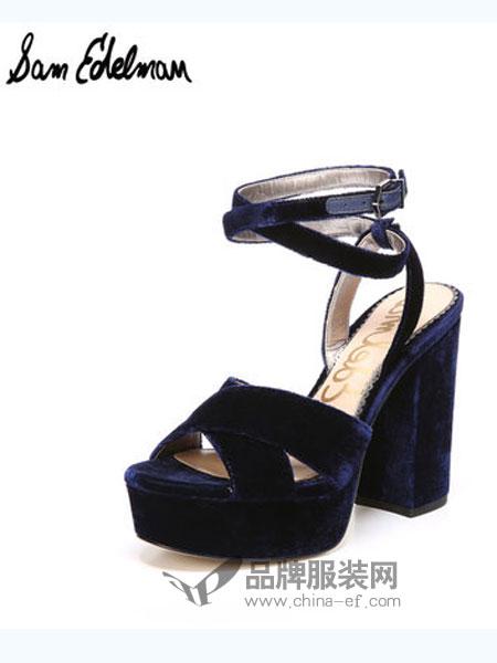 山姆·爱德曼鞋帽品牌交叉带高跟女凉鞋