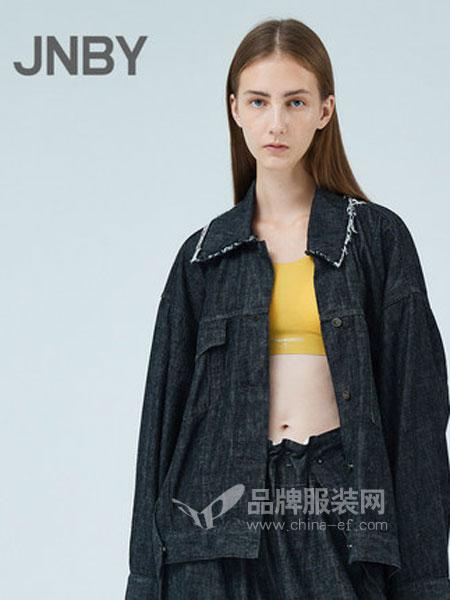江南布衣女装品牌2019春季棉毛边廓形牛仔外套