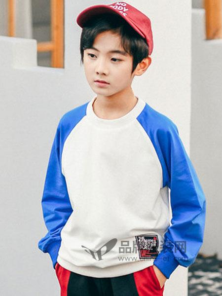 童鲨 Tomysasa童装品牌2019春季拼色套头长袖休闲