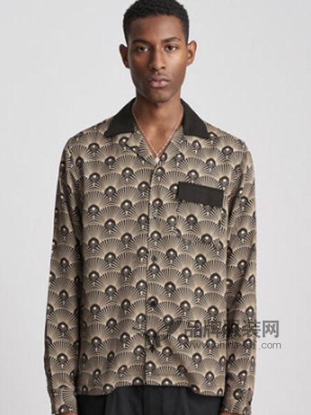 Saturdays NYC男装品牌2018秋冬 印花天丝棉衬衫