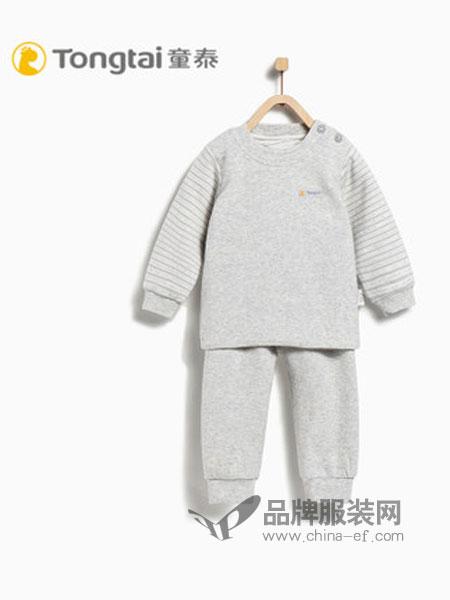 童泰童装品牌2018秋冬长袖开裆哈衣爬服