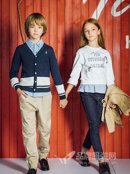 暇步士HushPuppies童装品牌2019春夏儿童纯棉T恤小中大童条纹上衣