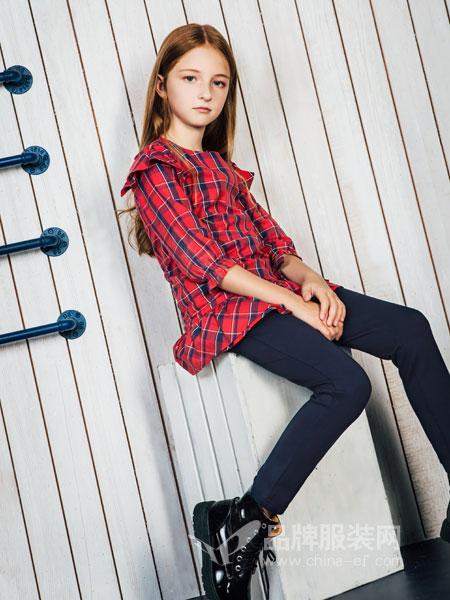 暇步士HushPuppies童装品牌2019春夏女大童新款两件套装