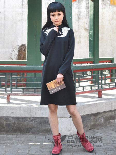 汉舞女装品牌2019春夏休闲百搭刺绣旗袍