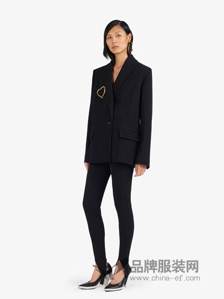 纪梵希女装品牌2018秋冬正面系带绉纱西装外套
