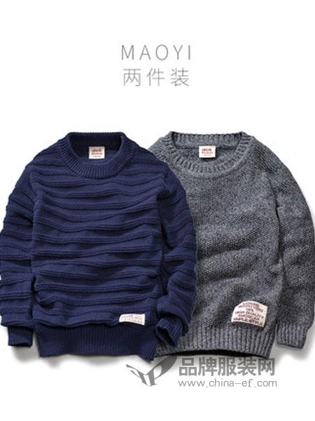 班比纳童装品牌2018秋冬毛衣中大童加厚针织毛衫