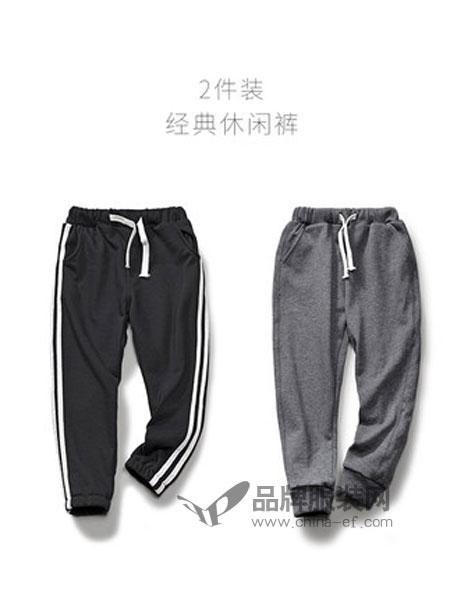 班比纳童装品牌2018秋冬休闲裤韩版薄