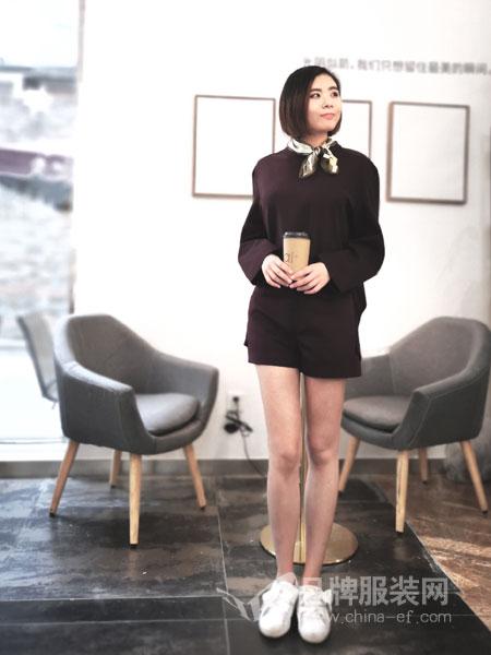 埃迪拉女装品牌2019春夏连衣裙长袖收腰显瘦百搭