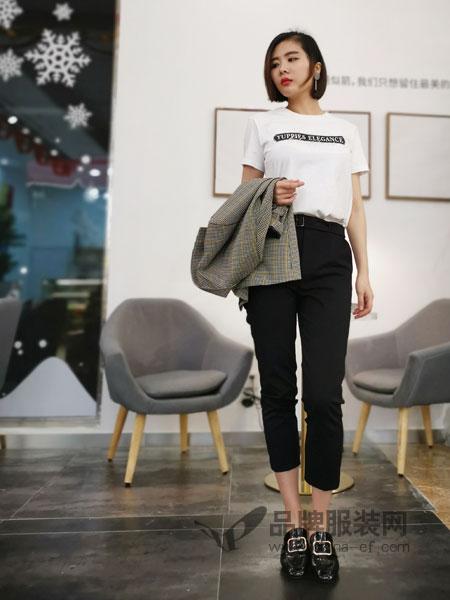 埃迪拉威廉希尔中文网 品牌2019春夏高腰显瘦百搭九分裤休闲裤