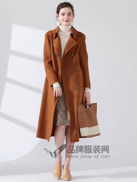 女衣号女装品牌2018冬季面羊绒羊毛大衣中长款外套女毛呢