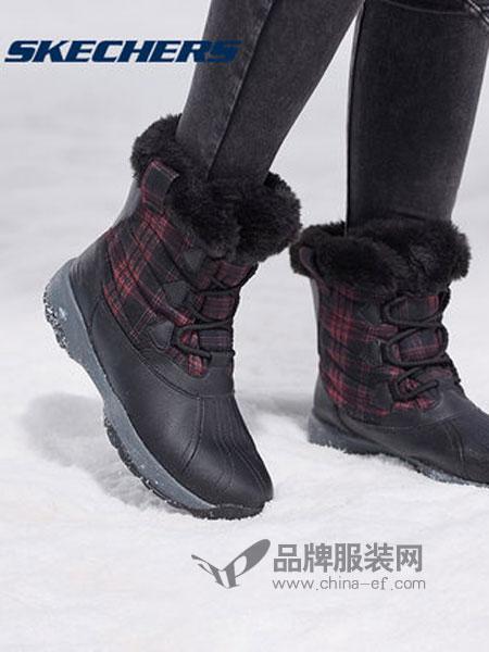 斯凯奇鞋帽/领带品牌2018秋冬 防泼水雪地靴 保暖格纹牛皮中筒靴 14787¥469.00