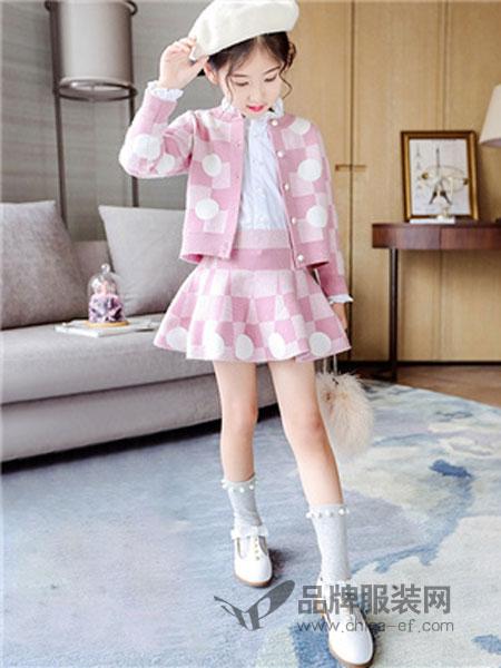 班尼豆童装品牌韩版儿童针织毛衣半身裙短裙两件套