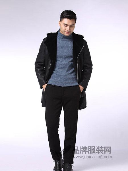 凯撒KAISER男装品牌2018秋冬毛呢大衣潮流保暖呢子外套中长款