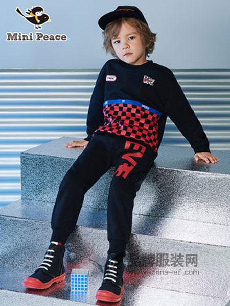 太平鸟童装品牌2019春季洋气运动休闲套装