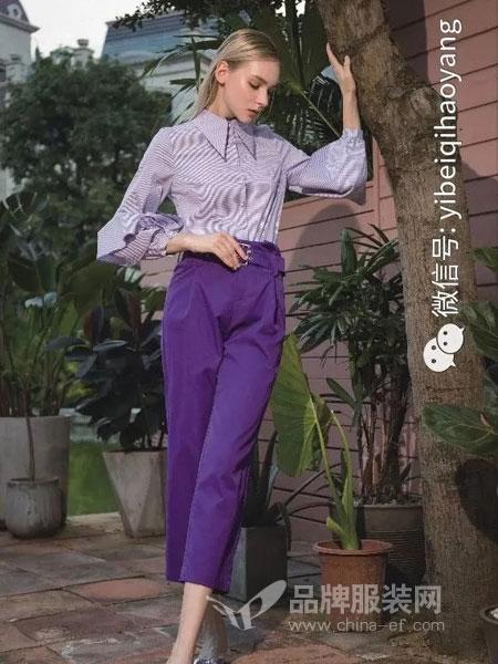 依贝奇女装品牌2019春季修身休闲韩版时尚流行衬衫