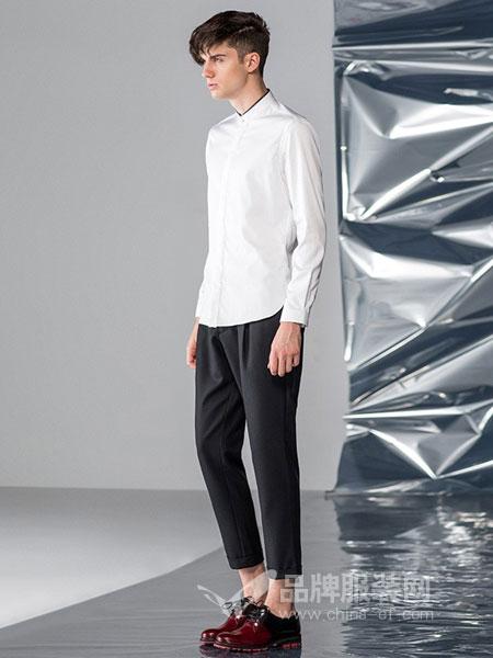 16eme Nord男装品牌2018秋冬休闲裤青春简约直筒男士长裤
