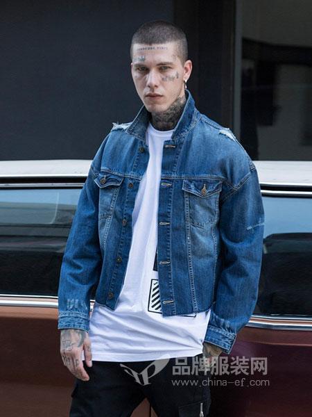 16eme Nord男装品牌2018秋冬韩版潮流牛仔衣修身帅气夹克外套潮牌