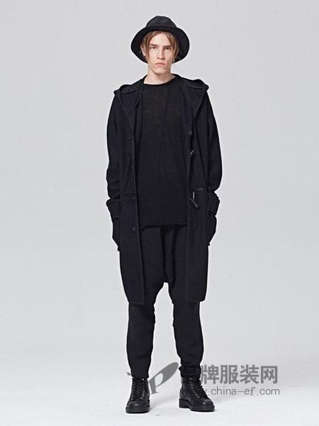 ZUEE術男装品牌2018秋冬中长款商务修身羊毛呢大衣外套风衣