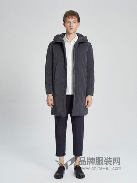 ZUEE術男装品牌2018秋冬长款休闲羽绒服薄款宽松外套男潮