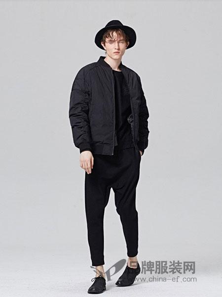 ZUEE術男装品牌2018秋冬棒球领落肩款短款羽绒服外套男