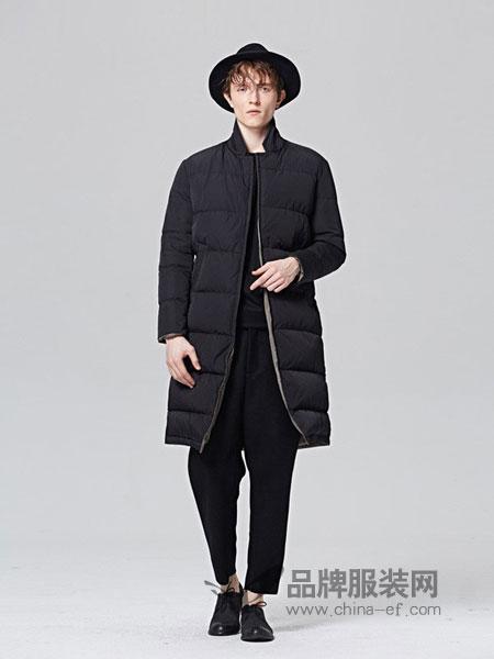 ZUEE�g男装品牌2018秋冬加厚百搭两面穿羽绒服休闲外套