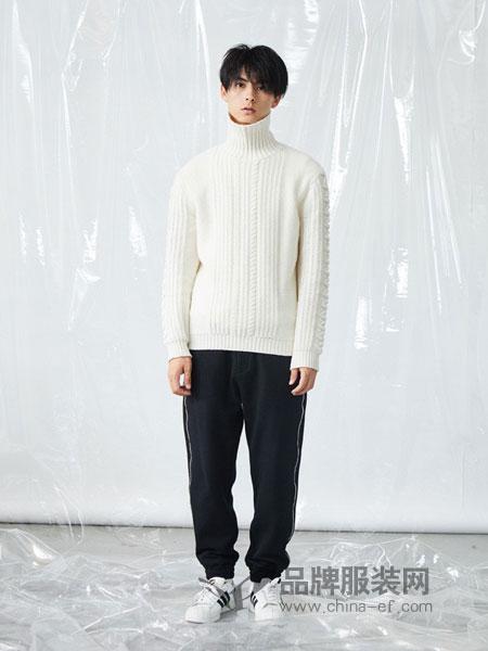 森所sensu男装品牌2018秋冬毛衫男纯色高领纹理套头绅士