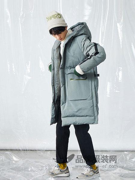 森所sensu男装品牌2018秋冬新款韩版潮流连帽加厚保暖外套