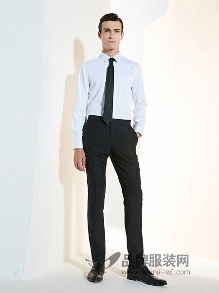 法派男装品牌2018秋冬新款韩版直筒西服裤